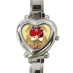 Flan Heart Italian Charm Watch  by DesignsbyReg2