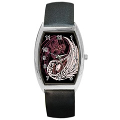Yinyang Tonneau Leather Watch by DesignsbyReg2