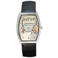 Happy Beam Tonneau Leather Watch by RachelIsaacs