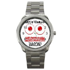 Whats Shakin Bacon? Sport Metal Watch by Contest1804625