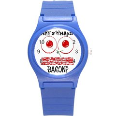 Whats Shakin Bacon? Plastic Sport Watch (small) by Contest1804625