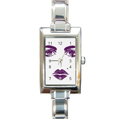 Beauty Time Rectangular Italian Charm Watch by Contest1704350