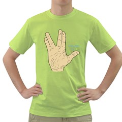 Lonely Again Mens  T Shirt (green) by Contest1753604