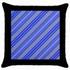 Lines Black Throw Pillow Case by Siebenhuehner