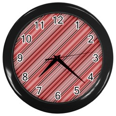 Lines Wall Clock (black) by Siebenhuehner