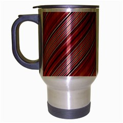 Lines Travel Mug (silver Gray) by Siebenhuehner