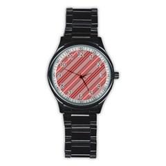 Lines Sport Metal Watch (black) by Siebenhuehner