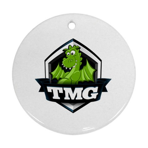 Tmg Logo Ornament By Chris Schreiber   Ornament (round)   Km2e9rto79ym   Www Artscow Com Front