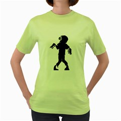 Zombie Boogie Womens  T Shirt (green) by willagher