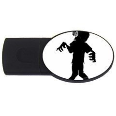 Zombie boogie 4GB USB Flash Drive (Oval) by willagher