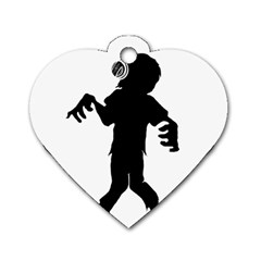 Zombie Boogie Dog Tag Heart (one Sided)  by willagher