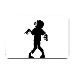 Zombie Boogie Small Door Mat by willagher