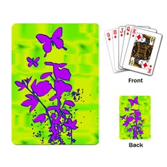 Butterfly Green Playing Cards Single Design by uniquedesignsbycassie