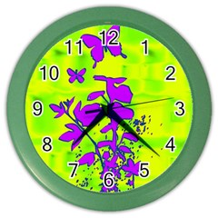 Butterfly Green Wall Clock (Color)