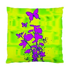 Butterfly Green Cushion Case (single Sided)  by uniquedesignsbycassie