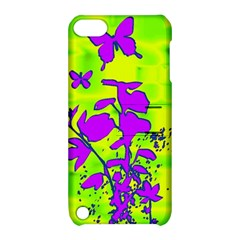 Butterfly Green Apple Ipod Touch 5 Hardshell Case With Stand by uniquedesignsbycassie