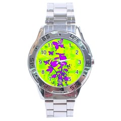 Butterfly Green Stainless Steel Watch
