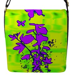 Butterfly Green Flap Closure Messenger Bag (small) by uniquedesignsbycassie