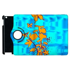 Butterfly Blue Apple Ipad 3/4 Flip 360 Case by uniquedesignsbycassie