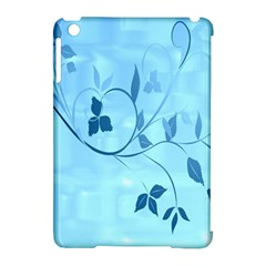 Floral Blue Apple Ipad Mini Hardshell Case (compatible With Smart Cover) by uniquedesignsbycassie