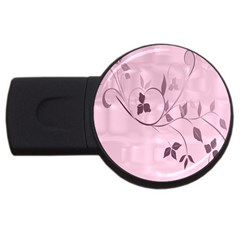 Floral Purple 4gb Usb Flash Drive (round) by uniquedesignsbycassie