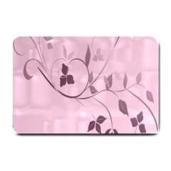 Floral Purple Small Door Mat by uniquedesignsbycassie