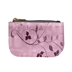 Floral Purple Coin Change Purse by uniquedesignsbycassie