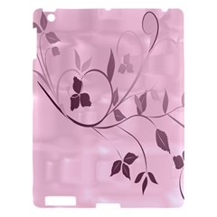 Floral Purple Apple Ipad 3/4 Hardshell Case by uniquedesignsbycassie