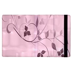 Floral Purple Apple Ipad 3/4 Flip Case by uniquedesignsbycassie