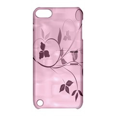 Floral Purple Apple iPod Touch 5 Hardshell Case with Stand by uniquedesignsbycassie