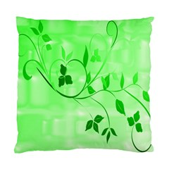 Floral Green Cushion Case (single Sided)  by uniquedesignsbycassie