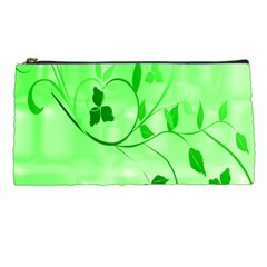 Floral Green Pencil Case by uniquedesignsbycassie