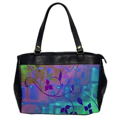 Floral Multicolor Oversize Office Handbag (one Side) by uniquedesignsbycassie