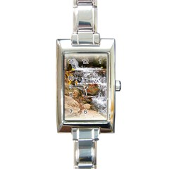 Waterfall Rectangular Italian Charm Watch by uniquedesignsbycassie