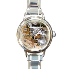 Waterfall Round Italian Charm Watch by uniquedesignsbycassie