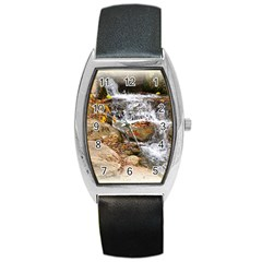 Waterfall Tonneau Leather Watch by uniquedesignsbycassie