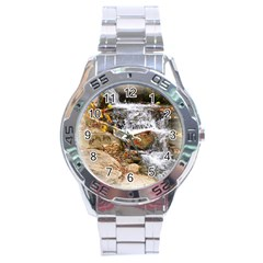 Waterfall Stainless Steel Watch by uniquedesignsbycassie