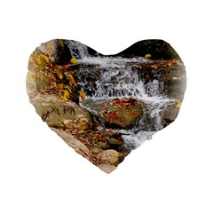 Waterfall 16  Premium Heart Shape Cushion  by uniquedesignsbycassie