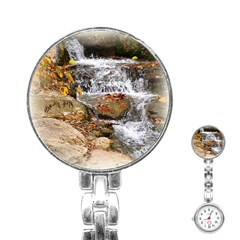 Waterfall Stainless Steel Nurses Watch by uniquedesignsbycassie