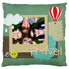 Travel By Travel   Large Cushion Case (two Sides)   A7thvks039af   Www Artscow Com Front