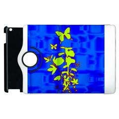 Butterfly blue/green Apple iPad 2 Flip 360 Case by uniquedesignsbycassie