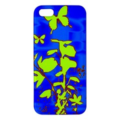 Butterfly blue/green iPhone 5 Premium Hardshell Case