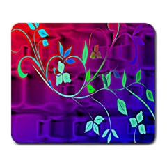 Floral Colorful Large Mouse Pad (rectangle) by uniquedesignsbycassie
