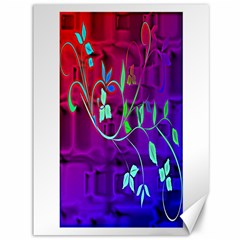 Floral Colorful Canvas 36  X 48  (unframed) by uniquedesignsbycassie