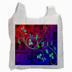 Floral Colorful Recycle Bag (one Side) by uniquedesignsbycassie