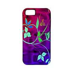 Floral Colorful Apple Iphone 5 Classic Hardshell Case (pc+silicone) by uniquedesignsbycassie