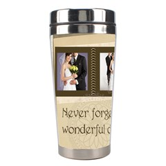 Wedding By Paula Green   Stainless Steel Travel Tumbler   5vcb8uuf3psq   Www Artscow Com Left