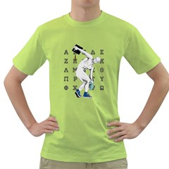 Take Your Hat Off ! Mens  T Shirt (green) by Contest1761904