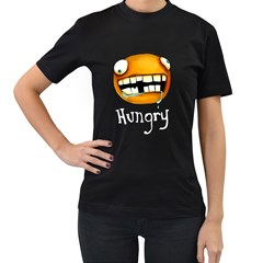 Hungry Womens' T-shirt (Black) by Contest1780262