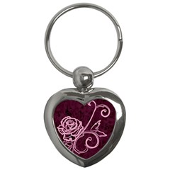 Rose Key Chain (heart) by uniquedesignsbycassie